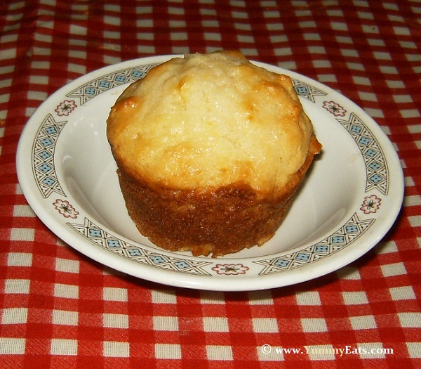 Recipe for Lemon Yogurt Muffins baked from scratch