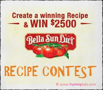 Sun-Dried Tomato Recipe Contest to Win $2500 Cash Prize