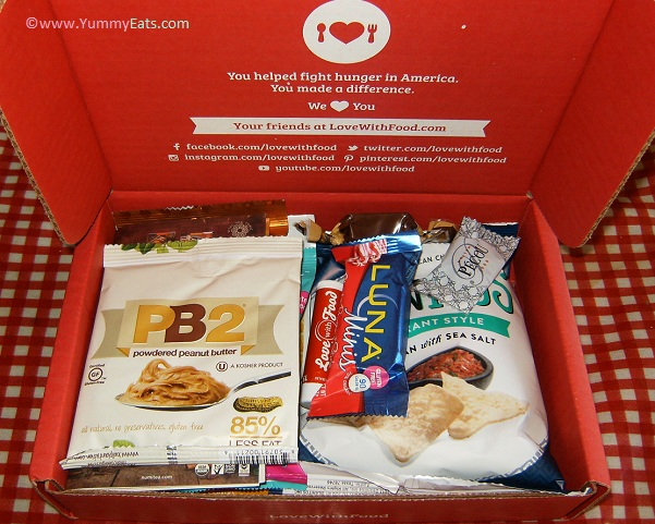 Unboxing the Love With Food Tasting Box for December 2015