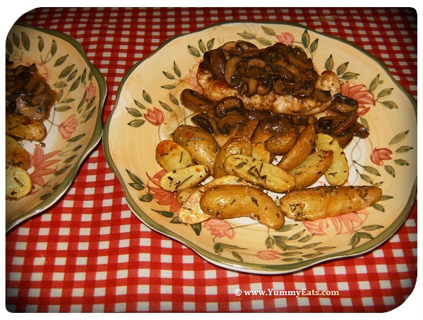 Chicken Marsala with Roasted Fingerling Potatoes dinner from the Plated Subscription Food Box Dinner Menu