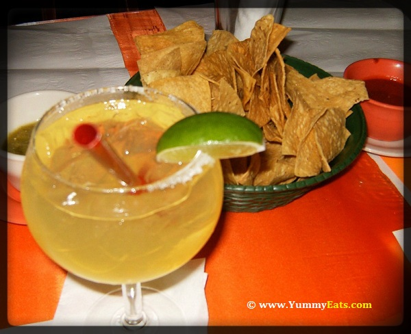 Have a Margarita cocktail with Tortilla Chips and Salsa, perfect for Cinco de Mayo holiday eats.