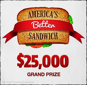 America's Better Sandwich Recipe Contest to win $25,000 Cash