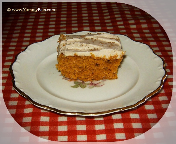 Delicious Pumpkin Bars dessert baked using a recipe from The Duluth Grill Cook Book II