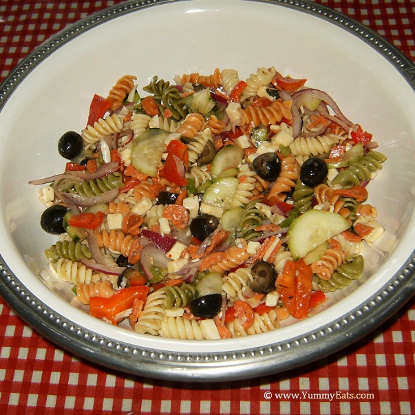 BRIANNAS Italian Pasta Salad, prepared from recipe in the Degustabox food box.