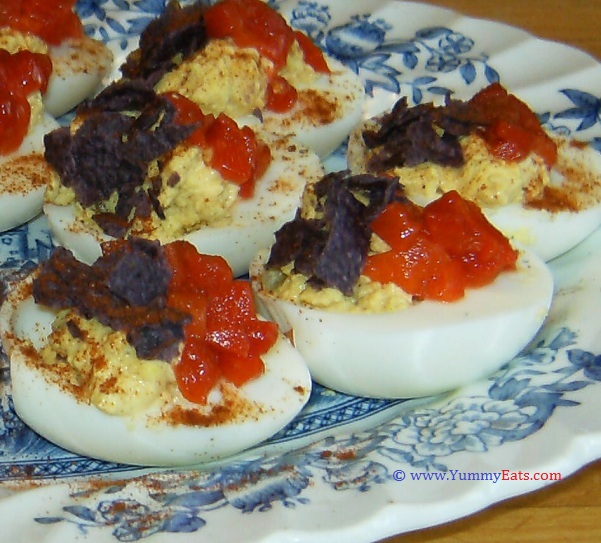 Red, White, and Blue Deviled Eggs Recipe