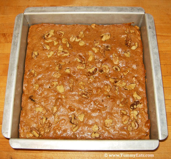 Homemade baked goods - honey nut bars