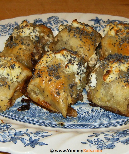 Caramelized Red Onion Chutney and Goats' Cheese Sausage Rolls