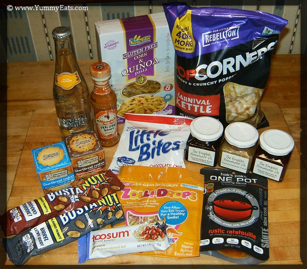 Food products sent in the September 2016 Degustabox subscription box