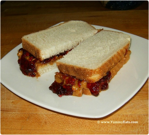 Classic and Delicious Peanut Butter and Jelly Sandwich.