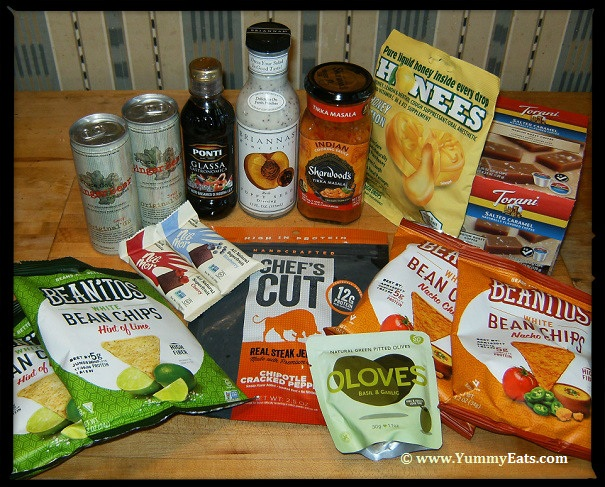 Food products in the Degustabox USA surprise subscription box for November 2016