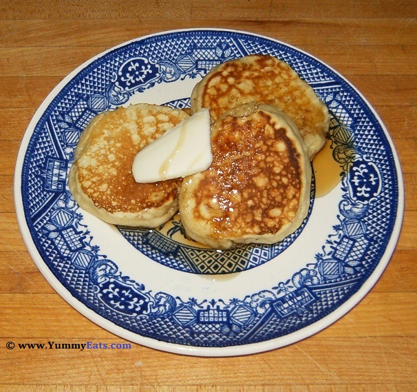 Silver Dollar Pancakes, made using a recipe from the Big Bad Breakfast Cookbook.