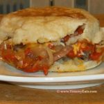 Yummy, Melty-Me Baked Cheeseburger on an English Muffin