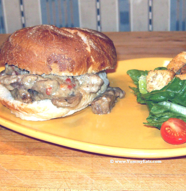 Recipe for Hearty Beef Stroganoff Sandwiches