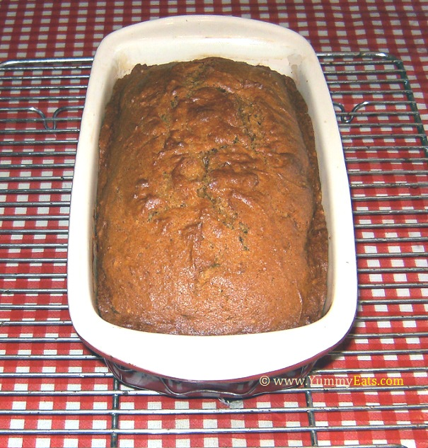 Quick Pumpkin Bread recipe - baked golden and delicious.